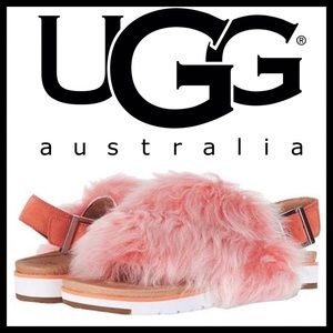 UGG® Holly Genuine Shearling Sandal